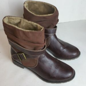 Sporto Tendra Brown Cold Weather Ankle Boots 8.5